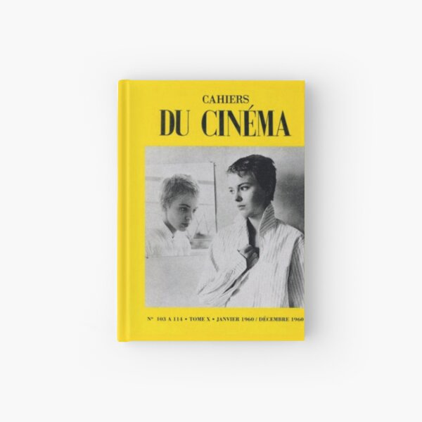 Jean Seberg Breathless Cahiers du Cinema French New Wave vintage 60s cover Hardcover Journal