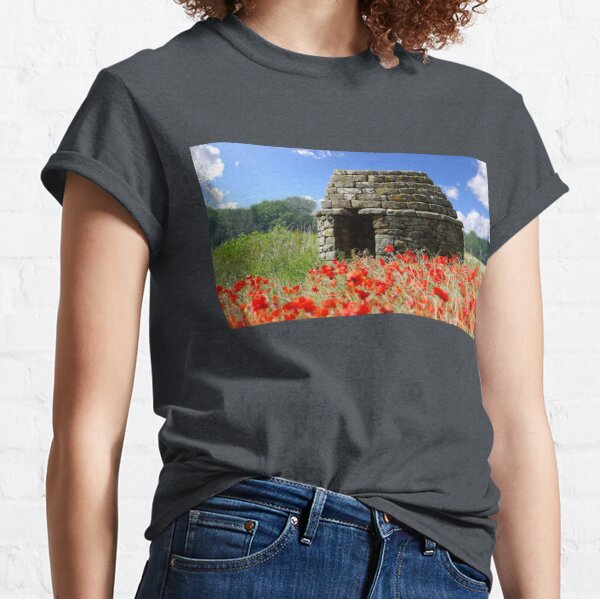 Field of poppys  near baslow in derbyshire  Classic T-Shirt