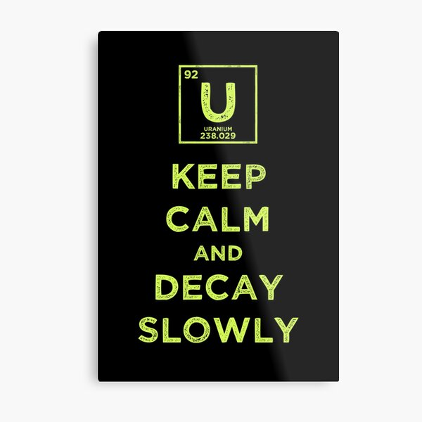 Keep Calm And Decay Slowly Metal Print