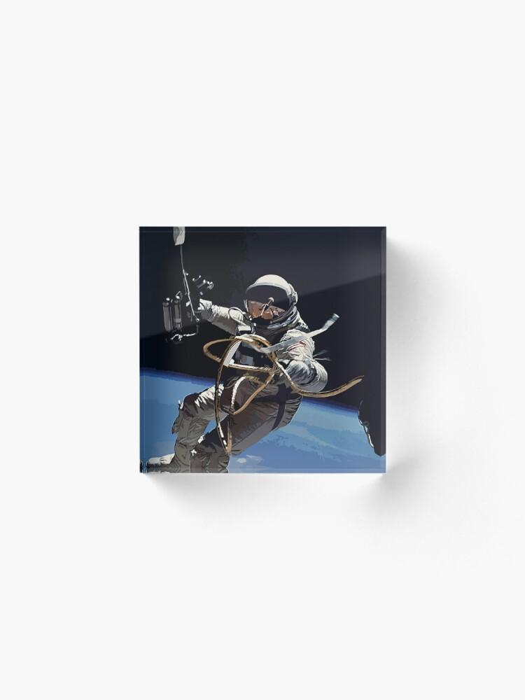 Alternate view of Astronaut Ed White's Spacewalk Colour Vector Art Acrylic Block
