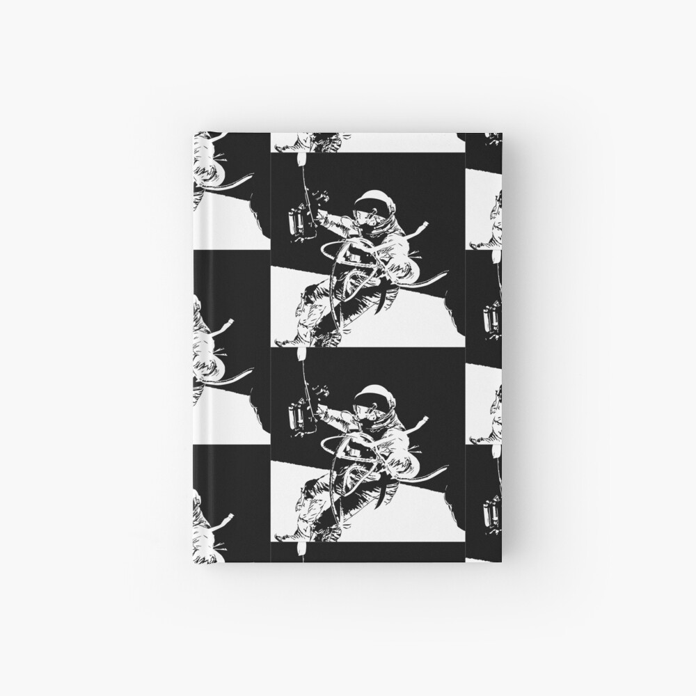 Black and White Vector Astronaut Ed White's Spacewalk Hardcover Journal
