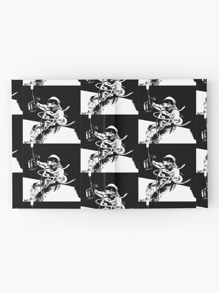 Alternate view of Black and White Vector Astronaut Ed White's Spacewalk Hardcover Journal