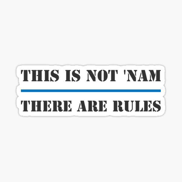 There are rules Sticker