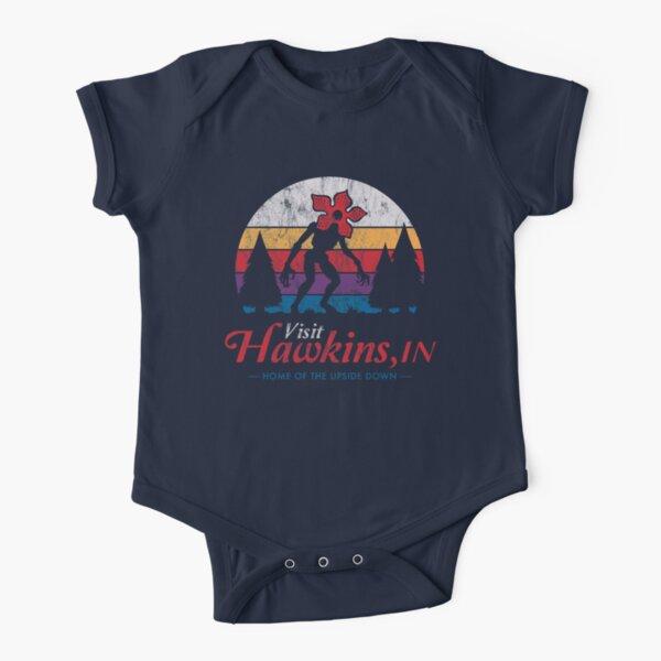 Visita Hawkins - Vintage apenado - Demogorgon - Cosas extrañas Body de manga corta para bebé