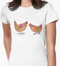 Chickens Women's Fitted T-Shirt