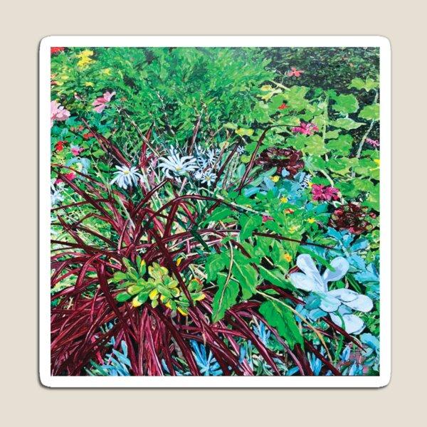 Our front garden in summer by Jo Reitze Magnet