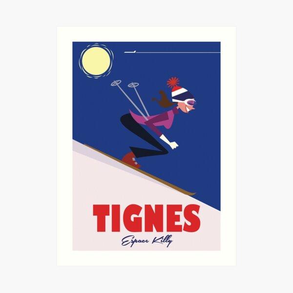 Tignes poster Art Print