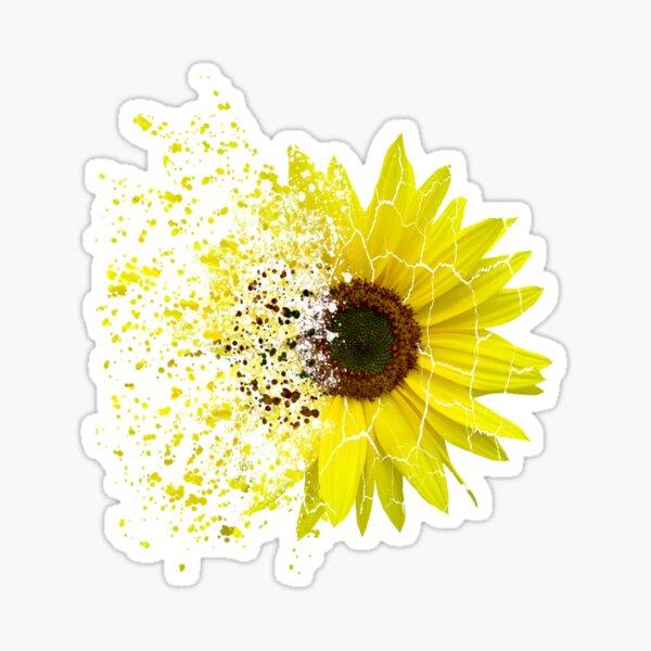 Zerfall - Splitter einer Sonnenblume, Sonnenblumen Sticker