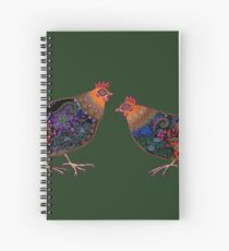Black Chickens Spiral Notebook