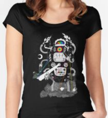 Behold my Wrench, Destructron! Women's Fitted Scoop T-Shirt