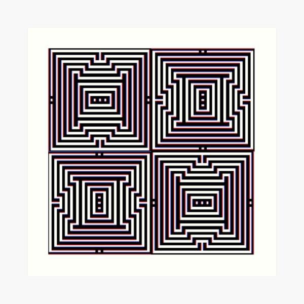 #Design, #abstract, #pattern, #illustration, psychedelic, vortex, modern, art, decoration Art Print