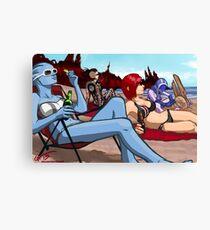 Mass Effect Cartoon - Ladies' Day Off Canvas Print