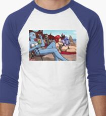 Mass Effect Cartoon - Ladies' Day Off Men's Baseball ¾ T-Shirt