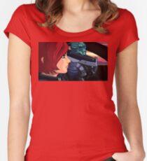 Mass Effect Cartoon - Old Friends Women's Fitted Scoop T-Shirt