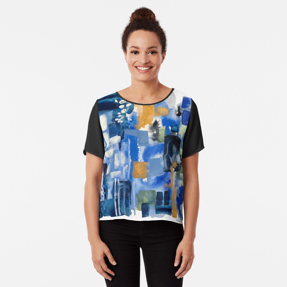 Ginger Jars Abstract Chiffon Top