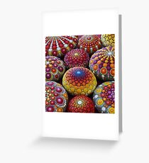 Warm Tone Mandala Stone Collection Greeting Card