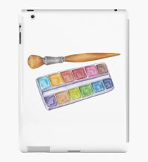 palette with brush iPad Case/Skin