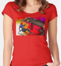 Mass Effect Cartoon - Husk Attack Women's Fitted Scoop T-Shirt
