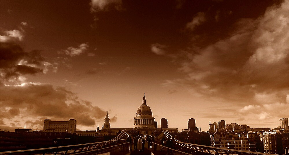 View across the Millennium Bridge, London by Chris Millar