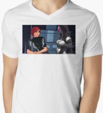 Mass Effect Cartoon - Tali Men's V-Neck T-Shirt