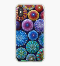 Rainbow Mandala Stone Collection iPhone Case