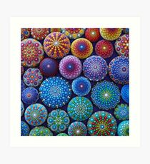 Rainbow Mandala Stone Collection Art Print