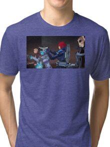 Mass Effect Cartoon - An Attack on the Cerberus Base Tri-blend T-Shirt