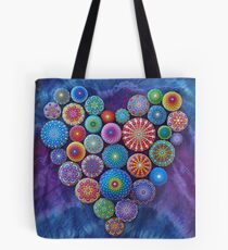Liebe Felsen Mandala Stone Collection von Elspeth McLean Tote Bag