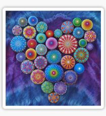 Love Rocks Mandala Stone Collection by Elspeth McLean Sticker