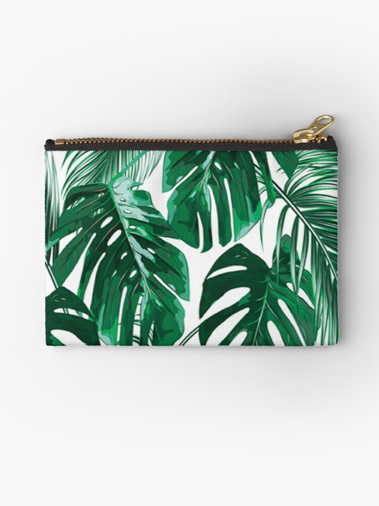 Tropical Leaves Palm Tree Leaf Hawaiian Zipper Pouch By Real Bruh Redbubble Tropical plants hawaii flowers leaves and branches vector. redbubble