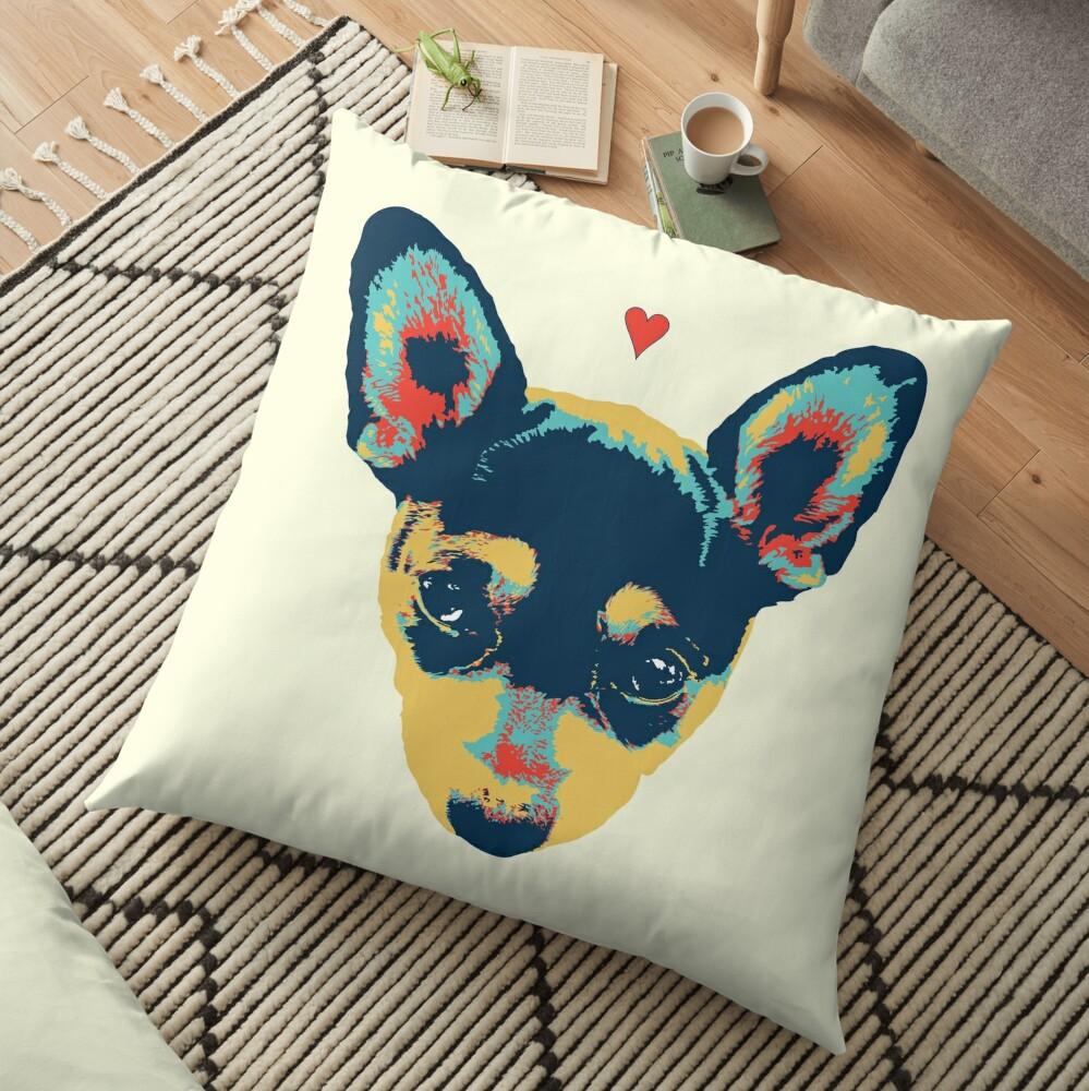 Pet Thoughts - Love Floor Pillow