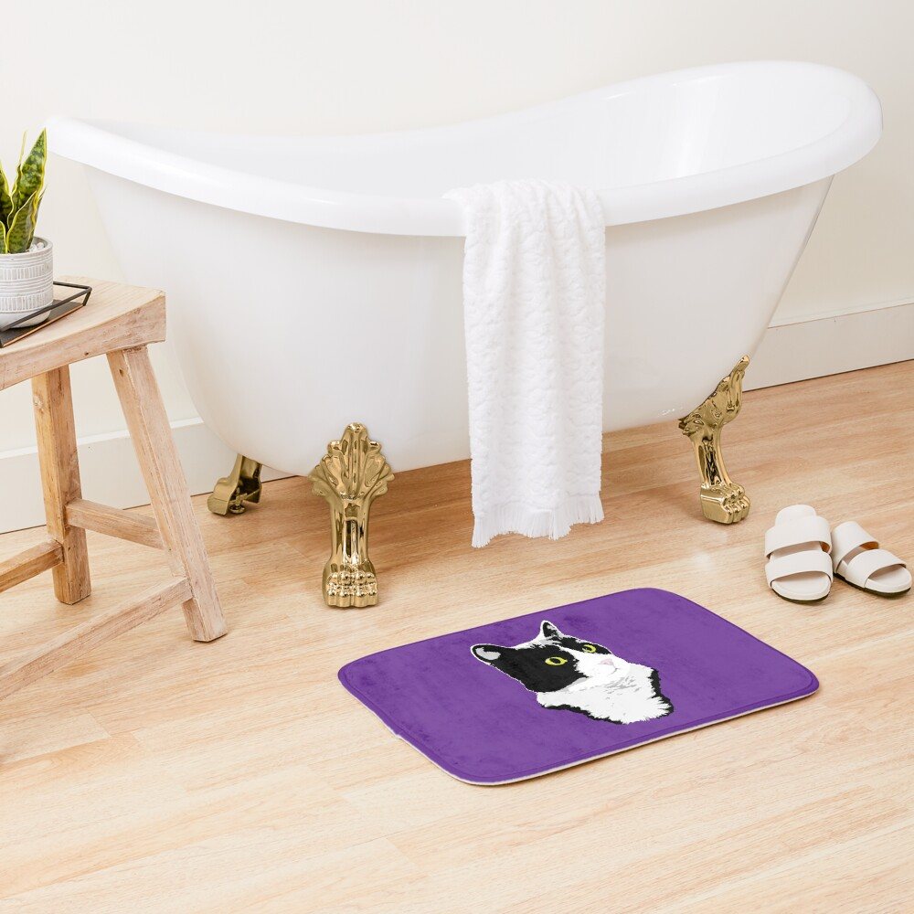 Regal Tuxedo Kitty Bath Mat