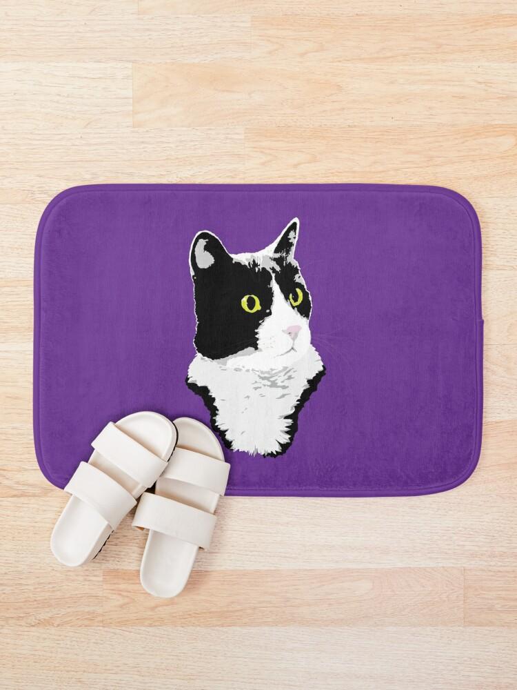 Alternate view of Regal Tuxedo Kitty Bath Mat