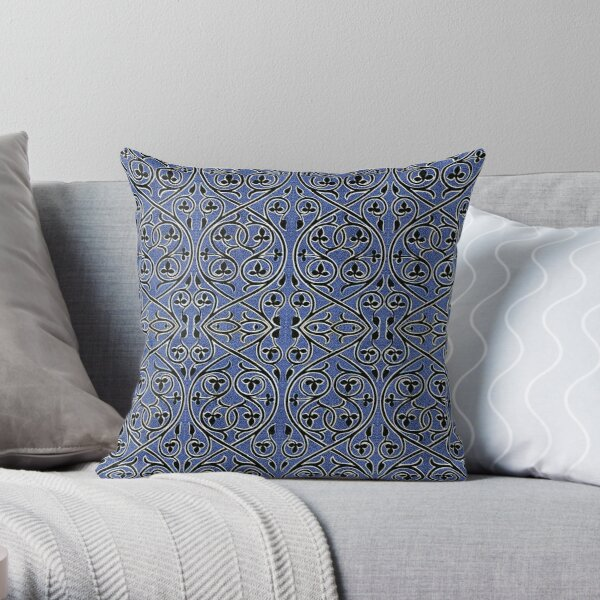 Byzantine 107 by Hypersphere Throw Pillow