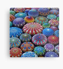 Jewel Drop Mandala Stone Collection #2 Metal Print