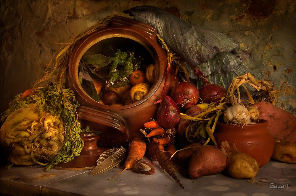 Stewpot with home grown vegetables by Gazart