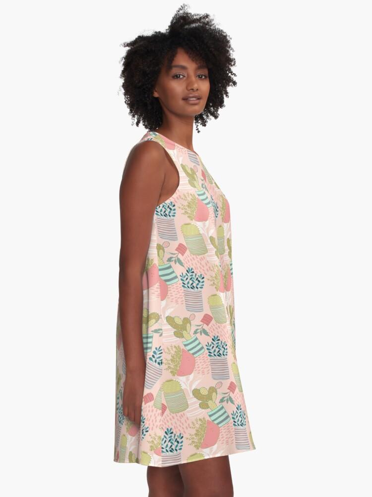 Alternate view of Cactus Toss A-Line Dress