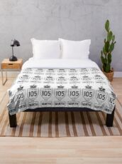 Highway 105 North Throw Blanket
