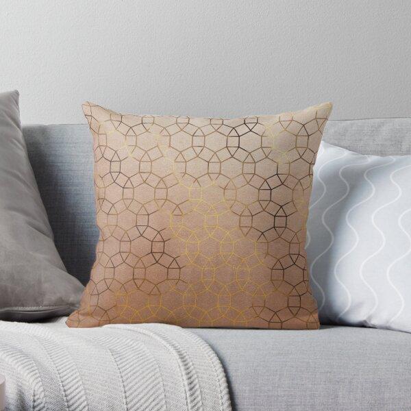 Gemma Gold Geometric - Gold Throw Pillow