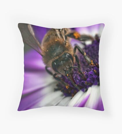 Bee in the Midst.  Throw Pillow