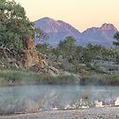 Finke River Mist by Steven Pearce