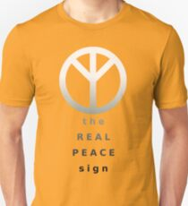 The Real Peace Sign (Black & White) Unisex T-Shirt