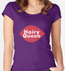 Hairy queen parody logo geek funny nerd Women's Fitted Scoop T-Shirt