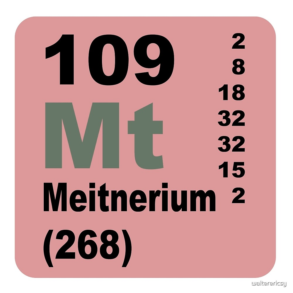 Meitnerium Periodic Table of Elements by walterericsy