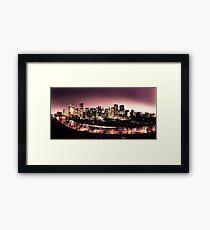 Downtown Calgary at Night Framed Print
