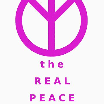 The Real Peace Sign (Magenta) by kotoro