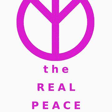 The Real Peace Sign (Magenta) by kotoro