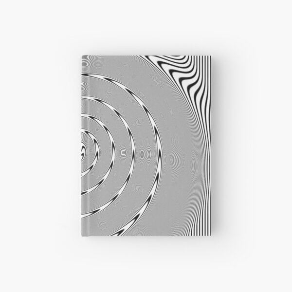 #Design, #abstract, #pattern, #illustration, psychedelic, vortex, modern, art, decoration Hardcover Journal