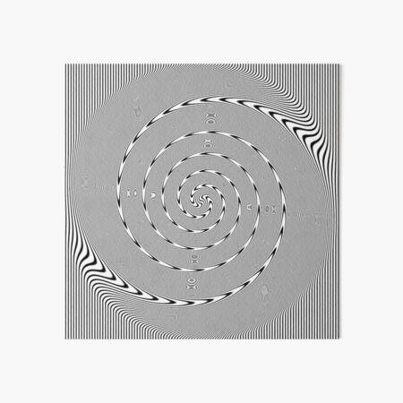 #Design, #abstract, #pattern, #illustration, psychedelic, vortex, modern, art, decoration Art Board Print