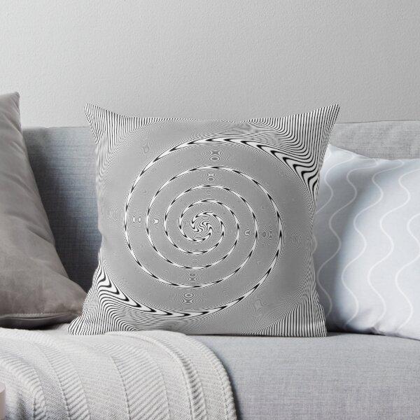 #Design, #abstract, #pattern, #illustration, psychedelic, vortex, modern, art, decoration Throw Pillow